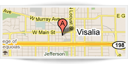 Map to our Visalia location
