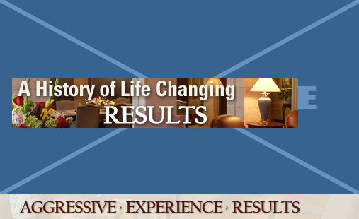 A History of Life Changing Results. Aggressive.  Experience.  Results.