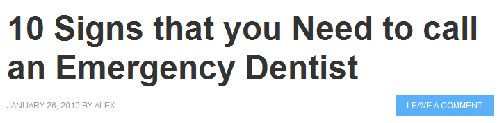 10 Signs That You Need to call an Emergency Dentist