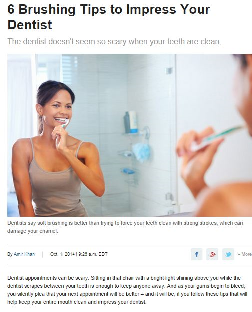 6 brushing Tips to impress your dentist