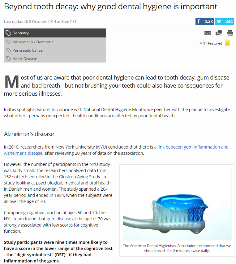 Beyond Tooth Decay-Why Good Dental Hygiene is important