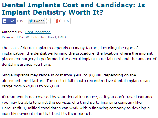 dental implants cost and candidacy
