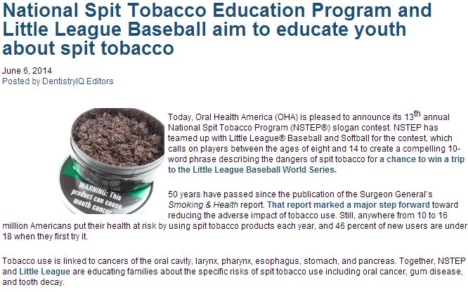 national split tobacco education program