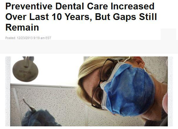 preventive dental care increased over last 10 years