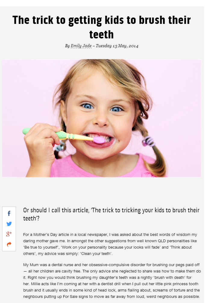 the trick to getting kids to brush their teeth
