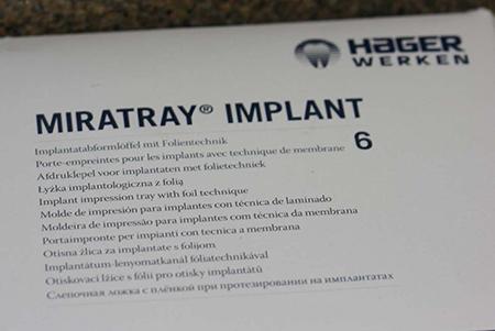 Miratray implant marketing materials