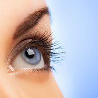woman's healthy eye